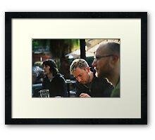 Writer's Focus Framed Print