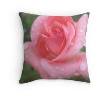 Nectarine Pink Rose Throw Pillow