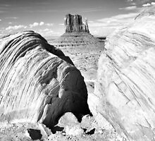 Mitten and Boulders, Monument Valley by TheBlindHog
