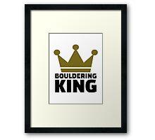 Bouldering king Framed Print