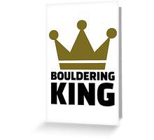 Bouldering king Greeting Card