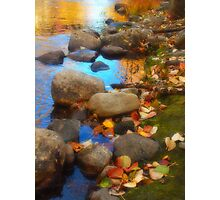 Autumn Down by the Creek Photographic Print