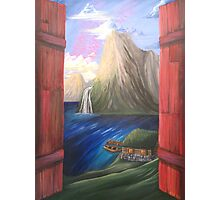 Fjord Row Boat Photographic Print