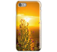 wild flowers coastal sunset iPhone Case/Skin