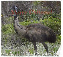 Aussie Chrissie-Emu Poster