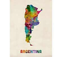 Argentina Watercolor Map Photographic Print