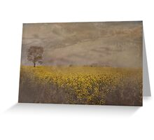 Canola On The Lachlan Greeting Card