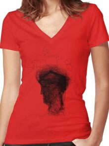 Cacoon Head Women's Fitted V-Neck T-Shirt