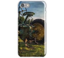 Vintage John Deere at Sunset iPhone Case/Skin