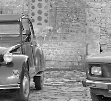 The 2CV in front of the church by Myrthe Noordegraaf