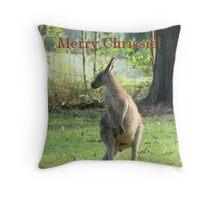 Aussie Chrissie-Kangaroo Throw Pillow