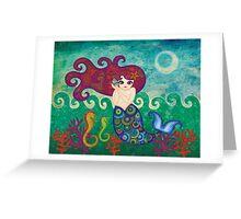Moonface Mermaid Greeting Card