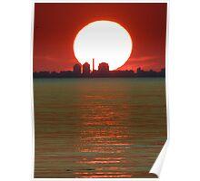 Pale sun Poster