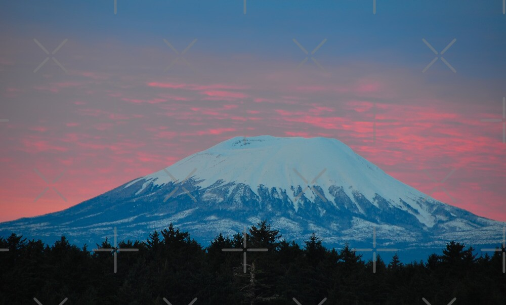 Mt. Edgecumbe in the Sunrise by DJ LeMay