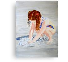 Her Own Little Fountain Canvas Print