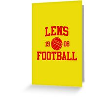 Lens Football Athletic College Style 2 Gray Greeting Card