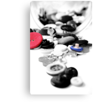 Buttons for Lan Canvas Print