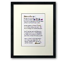 Brunswick blessing Framed Print