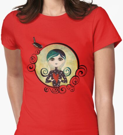 Lady Blue Womens Fitted T-Shirt