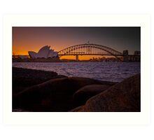 Sydney Skyline Sunset 1 Art Print