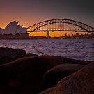 Sydney Skyline Sunset 1 by markburkett