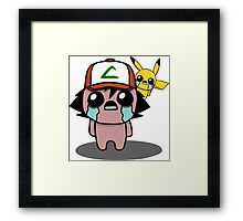 The Binding Of Isaac/Pokémon Crossover - Ash Ketchum and Pikachu (Kanto) Framed Print