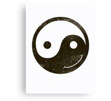 yin yang smiley Canvas Print