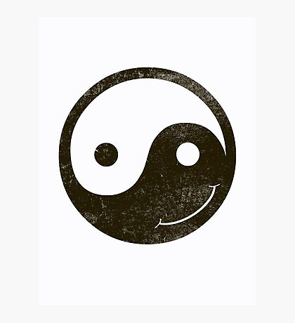 yin yang smiley Photographic Print