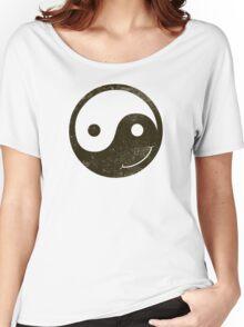 yin yang smiley Women's Relaxed Fit T-Shirt