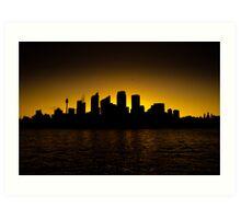 Sydney Skyline Sunset 3 Art Print