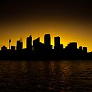 Sydney Skyline Sunset 3 by markburkett