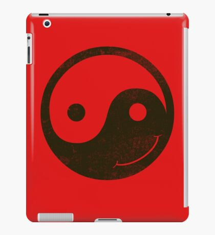 yin yang smiley iPad Case/Skin