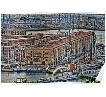 Genoa Old Port Poster