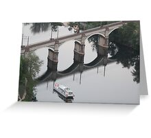 Arch & Stair Series - Reflections to bridge a divide Greeting Card