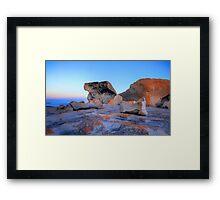 Remarkable Rocks at sunset on Kangaroo Island Framed Print