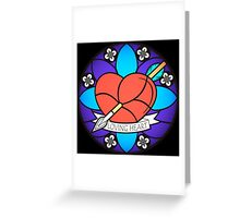 Loving Heart, stained glass' style. Greeting Card