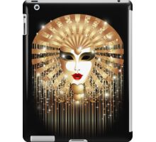 Golden Venice Carnival Mask  iPad Case/Skin