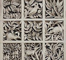 Australiana Motifs  - Left Panel by Christopher Biggs
