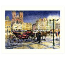 Prague Old Town Square   Art Print