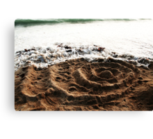 Rings In The Sand Canvas Print