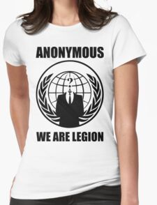 Anonymous - We Are Legion Womens Fitted T-Shirt