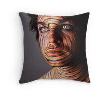 Face Paints Throw Pillow