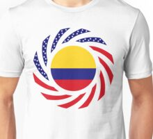 Colombian American Multinational Patriot Flag Series Unisex T-Shirt