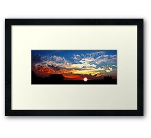 Blue Sunset With Clouds Framed Print
