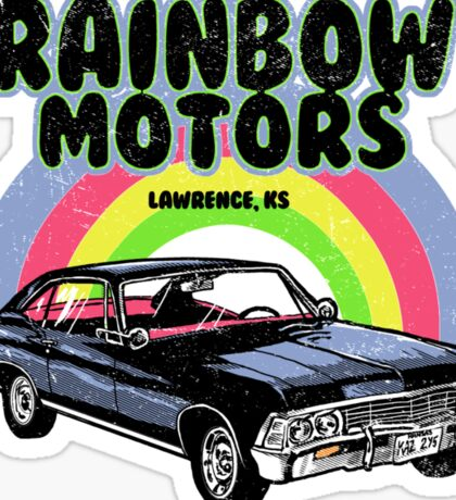 Rainbow Motors Sticker
