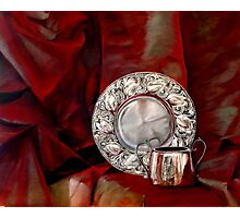 Red and Silver Photographic Print