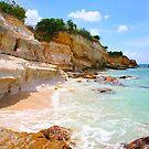 Cupecoy Beach on Sint Maarten, The Dutch Antilles by Bruno Beach
