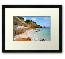 Cupecoy Beach on Sint Maarten, The Dutch Antilles Framed Print