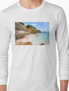 Cupecoy Beach on Sint Maarten, The Dutch Antilles Long Sleeve T-Shirt