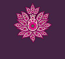 Decorative Lotus Flower Womens Fitted T-Shirt